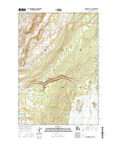 Topo map Anchorage D-1 NE Alaska