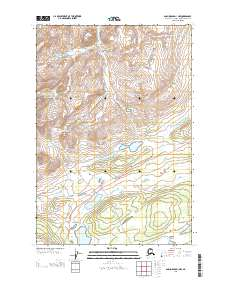 Topo map Anchorage D-1 NW Alaska