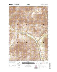 Topo map Anchorage D-2 NW Alaska