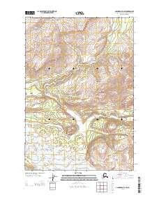 Topo map Anchorage D-2 SW Alaska