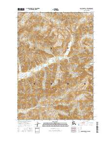 Topo map Anchorage D-3 NW Alaska