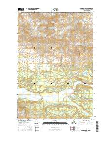 Topo map Anchorage D-3 SW Alaska