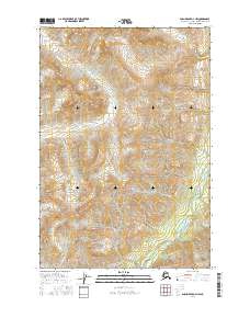Topo map Anchorage D-4 NW Alaska