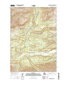 Topo map Anchorage D-4 SW Alaska
