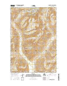 Topo map Anchorage D-5 NE Alaska