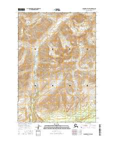 Topo map Anchorage D-5 SW Alaska
