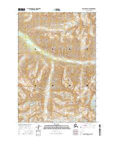 Topo map Anchorage D-6 NW Alaska