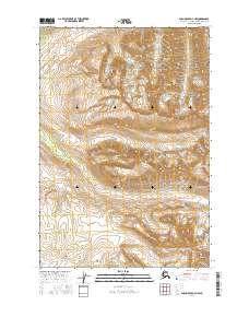 Topo map Anchorage D-7 NW Alaska