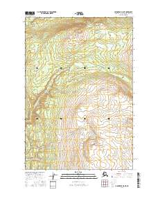 Topo map Anchorage D-8 NE Alaska
