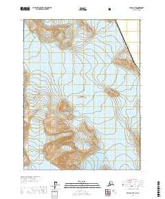 Topo map Atlin A-7 SW Alaska