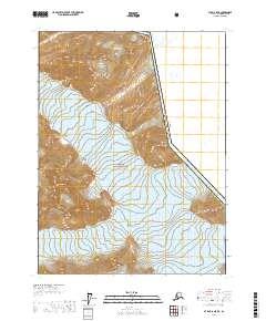 Topo map Atlin A-8 NE Alaska