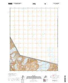 Topo map Atlin B-8 SW Alaska