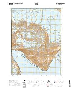 Topo map Bering Glacier A-2 NE Alaska