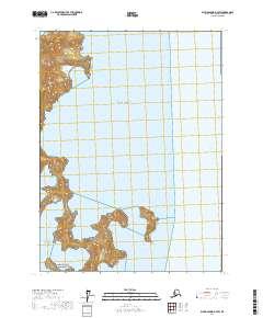 Topo map Blying Sound D-7 SW Alaska