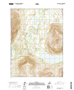 Topo map Chandalar C-2 SE Alaska