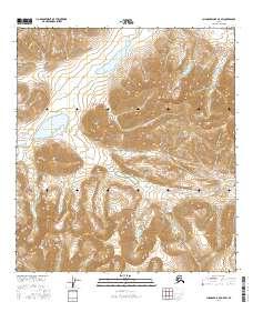 Topo map Chandler Lake A-5 SW Alaska