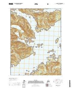 Topo map Craig A-1 SE Alaska