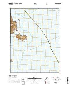 Topo map Craig B-1 NE Alaska