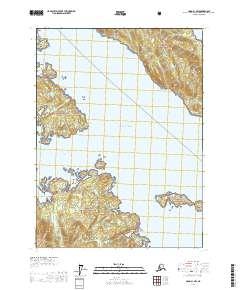 Topo map Craig B-1 NW Alaska