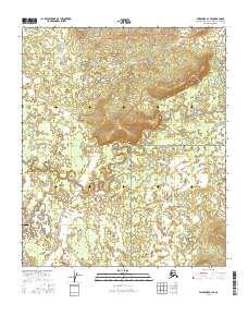 Topo map Fairbanks D-1 SE Alaska
