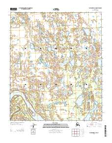 Topo map Fairbanks D-5 NE Alaska