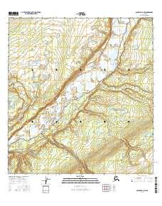 Alaska Topo Map Gulkana B NW - Alaska topo maps