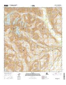 Topo map Healy A-6 SW Alaska