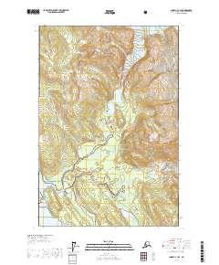 Topo map Juneau C-3 SE Alaska