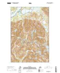 Topo map Juneau D-6 SW Alaska
