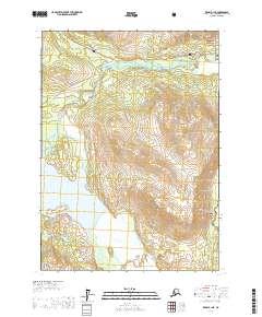 Topo map Kenai B-1 NE Alaska