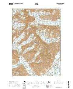 Topo map McCarthy A-1 NE Alaska