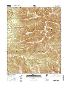 Topo map Melozitna D-4 NW Alaska
