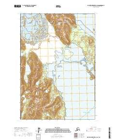 Topo map Mount Fairweather B-2 SW Alaska
