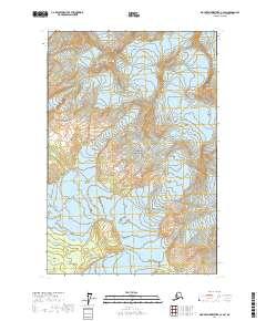 Topo map Mount Fairweather C-4 SW Alaska