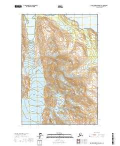 Topo map Mount Fairweather D-3 SE Alaska