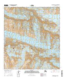 Topo map Mount Hayes B-3 SW Alaska