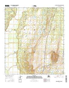 Topo map Mount Hayes D-4 SW Alaska