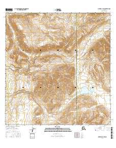 Topo map Nabesna A-2 SW Alaska
