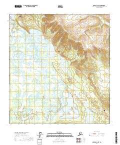 Alaska Topo Map Nabesna D-2 NE