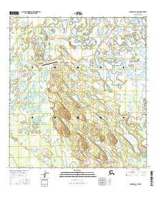 Topo map Nabesna D-2 NW Alaska