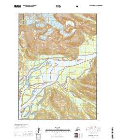 Topo map Petersburg C-1 NW Alaska