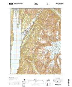 Topo map Skagway B-1 NW Alaska