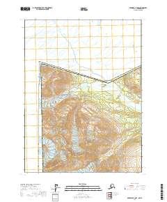 Topo map Skagway B-4 NW Alaska