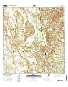 Topo map Talkeetna A-1 NE Alaska