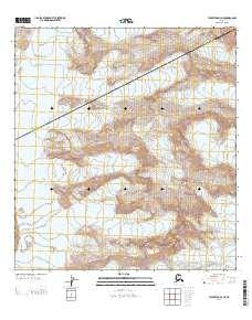 Topo map Talkeetna D-3 NE Alaska