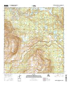USGS US Topo 7.5-minute map for Talkeetna Mountains D-1 NW ...