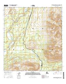 Topo map Talkeetna Mountains D-6 NE Alaska
