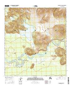 Topo map Tanacross B-5 NE Alaska