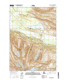 Topo map Valdez A-6 SW Alaska
