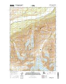 Topo map Valdez B-2 SW Alaska